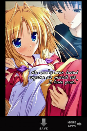 Anime Love Quotes Entertainment iPhone & iPod Touch App Review ...