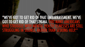 It's time we did away with the stigma surrounding mental health