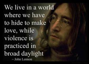 John Lennon quote on hiding love