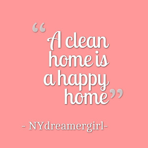 Quotes Picture: a clean home is a happy home