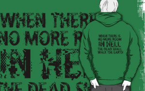Zombie Walking Living Dead Quote by geekchicprints