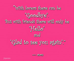 With Lovers There Can Be Good Bye