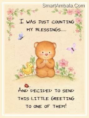 Was Just Counting My Blessings ~ God Quote