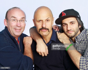Comedians Jimmy Burns, Maz Jobrani and Amir Kamyab pose after ...