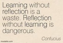 Just learning facts has no meaning. Reflecting on your behavior does ...