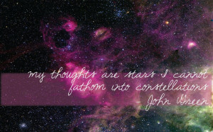 My thoughts are stars…