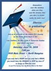 over the rainbow graduation invitation