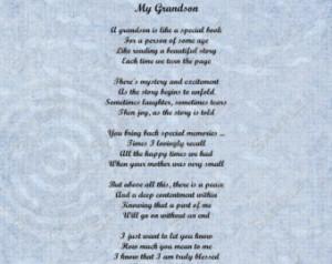 Grandson Poem Love Poem 8 X 10 Prin t INSTANT Download - On Sale!! ...