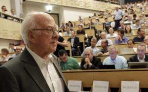 Peter Higgs on Nobel Prize Winner Peter Higgs