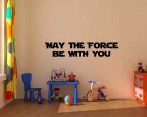 Medium Master Yoda quote wall deca l art vinyl lettering sticker May ...