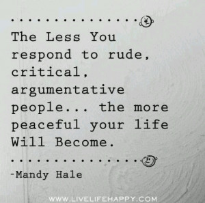 Mandy Hale. And that is why I am at peace.