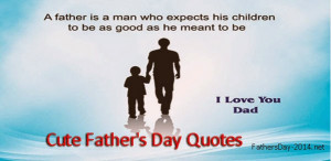 Cute Father's Day Quotes # 2015 From Daughter and Son - Top 10+