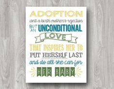 Adoption Quote Printable Typography Art 2 Color by scootapie, $5.00