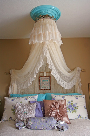 ... Aqua Princess Bedroom for my Teenage daughter…done on a budget