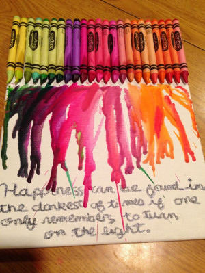 Melted crayon art quote