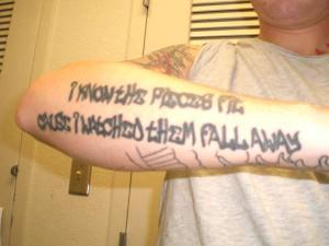 Tool- Schism lyric tattoo