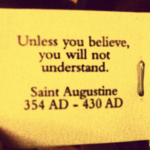 My tea bag. I love this quote. #believe