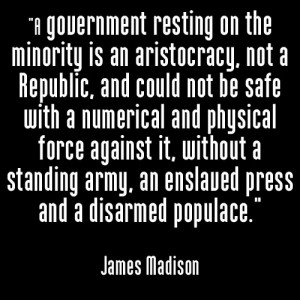 James Madison Quote on Freedom and the Protection of Rights