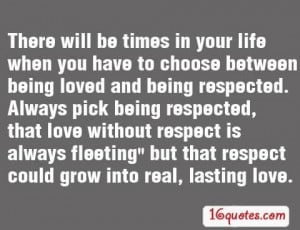 Love without respect quotes