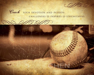 Gift - Coach Inspirational Quote - Baseball Art - Inspirational Quote ...