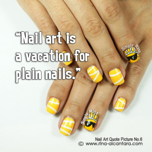 Nail art used in the photo is Here Comes the Sun .
