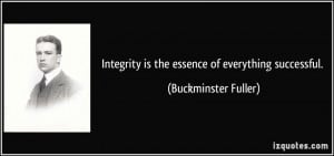 ... is the essence of everything successful. - Buckminster Fuller