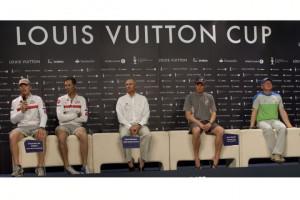 Skippers Press Conference: (from left) James Spithill, Francesco de ...