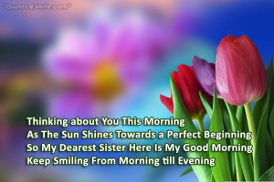 Keep Smiling From Morning Till Evening