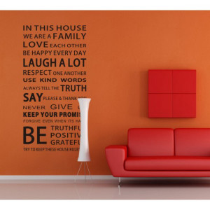 Home » House Rules We Are Family Bold Font Quotes Wall Decor Sticker