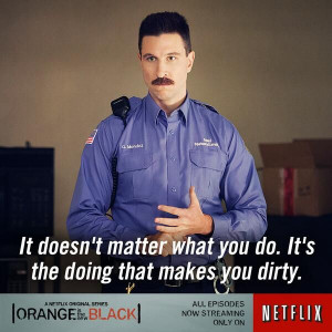 Orange is the New Black ~ Pablo Schreiber (Pornstache) ... you so bad ...