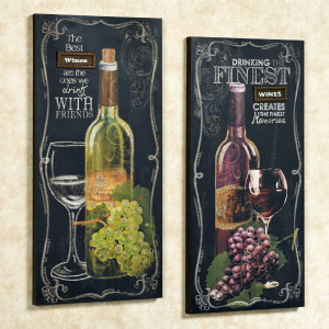 Home > Wine Quotes Canvas Wall Art Set