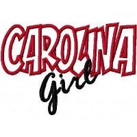 Carolina Girl Embroidery Machine Applique Design