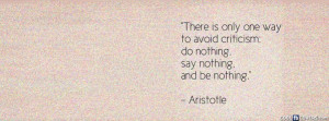 Aristotle Life Quote Avoid Critism Facebook Cover