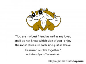 ... treasure each side, just as I have treasured our life together