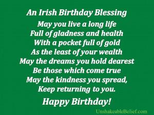 An Irish Birthday Blessing ~ Birthday Quote