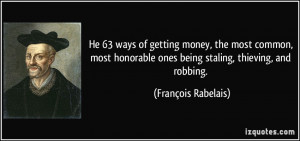He 63 ways of getting money, the most common, most honorable ones ...