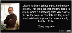 Ukraine had quite serious impact on the many Russians. They could see ...
