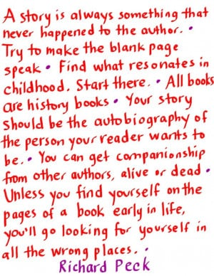 quotes from Richard Peck :)
