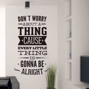 Dont Worry About a Thing Bob Marley Song Lyrics Quote Sticker