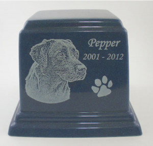 Large Cultured Granite Pet Urn