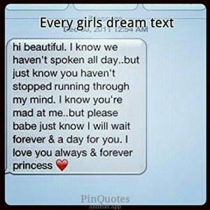 Cute text! Dream text. Awwwee princess.