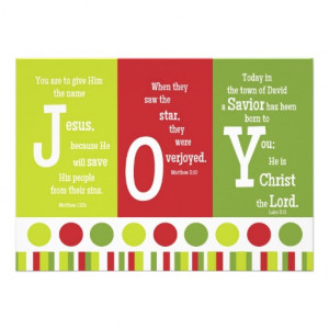 JOY 2-Sided Scripture Verse Christmas Card Announcement from Zazzle ...