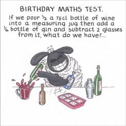Birthday Maths Test Card