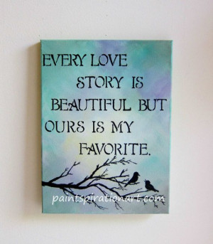 ... Painting 12x16 - Wedding Anniversary Gifts - Love Artwork Love Quotes