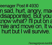 ... quotes, sad, smile, survive, teen post, teenage, teenager, teenager