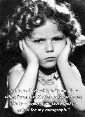 Funny and inspirational quotes by Shirley Temple…