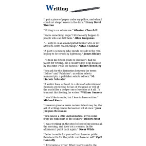 Ink - Quotes about writing by writers presented by The Fontayne Group