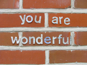 You Are Wonderful ~ Compliment Quote