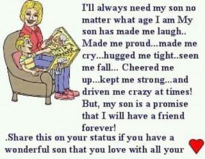 ll always need my son