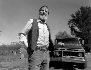 Ed with truck. Copyright Jack Dykinga.